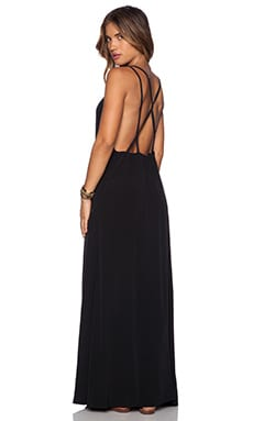ISLA_CO Barefoot Maxi Dress in Black