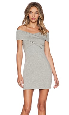 ISLA_CO That's A Wrap Dress in Grey Marle