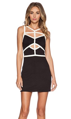 ISLA_CO After Hours Mini Dress in Black & White
