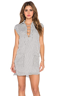 ISLA_CO The Lonely Shirt Dress in White Stripe