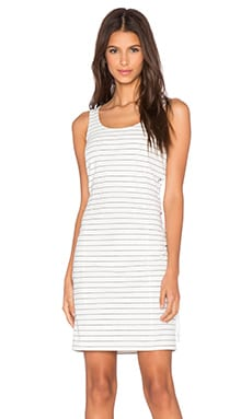 ISLA_CO Offline Dress in White Stripe