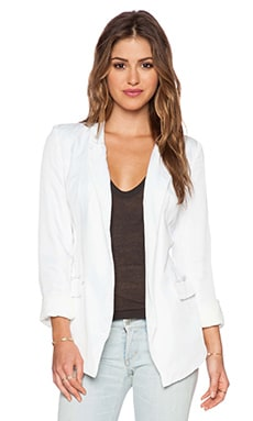 ISLA_CO Flipside Blazer in White
