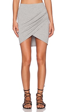 ISLA_CO That's a Wrap Mini Skirt in Grey Marle