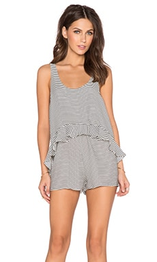 ISLA_CO The Lonely Romper in White Stripe