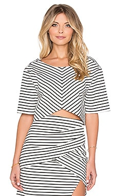 ISLA_CO Allure Crop Top in Stripe