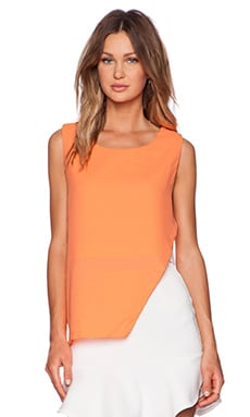 ISLA & LULU Surrender Top in Chalky Neon & White