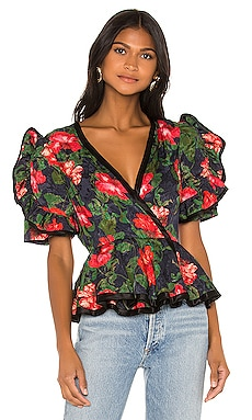Rose Peplum Blouse ICONS Objects of Devotion $158