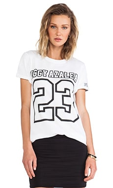 Football Style Tee in White