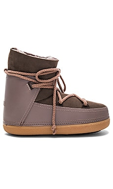 Sneakers Classic Tall Boot with Lambskin en Taupe