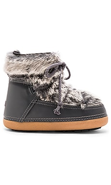 IKKII Rabbit Fur Boot with Lamb Shearling in Grey