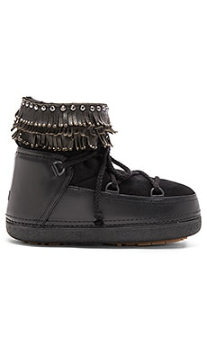 IKKII Punk Fray Stud Boot with Lamb Shearling in Black