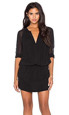 IKKS Paris 3/4 Sleeve Dress in Noir