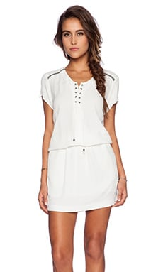 IKKS Paris Tie Dress in White