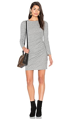 IKKS Paris Ruched Jersey Dress in Grey
