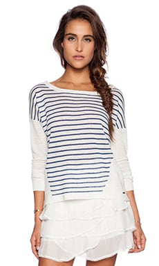 IKKS Paris Pullover Sweater in Navy Stripes