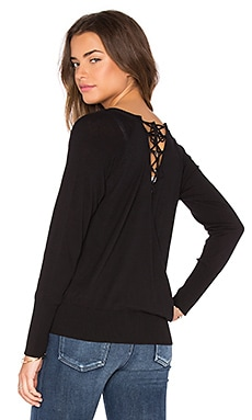 IKKS Paris Lace Up Cardigan in Noir