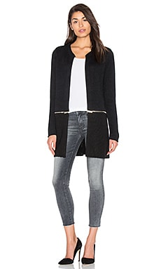 IKKS Paris Zip Around Coat in Black