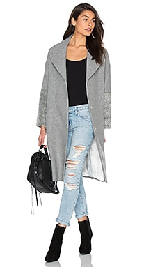 IKKS Paris Cupro Sleeve Coat in Grey