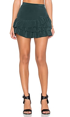 IKKS Paris Volants Mini Skirt in Vert