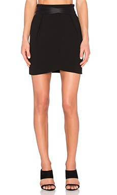 IKKS Paris Belted Mini Skirt in Noir