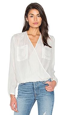 Блуза с длинным рукавом и драпировкой спереди - IKKS Paris