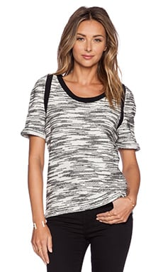 IKKS Paris Shortsleeve Top in Black & White