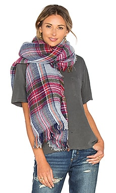 Plaid Scarf in Grey Chine