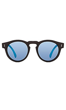 Leonard in Matte Black & Blue Mirrored