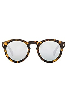 Leonard in Matte Tortoise & Silver Mirrored