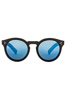illesteva Leonard II in Black & Blue Mirrored