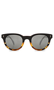 illesteva Greenport in Half & Half Light Tortoise & Metal Mirrored