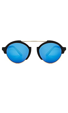 illesteva Milan 3 in Black & Blue Mirrored