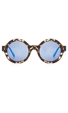 illesteva Frieda Eco in Clear Marble & Blue Mirror