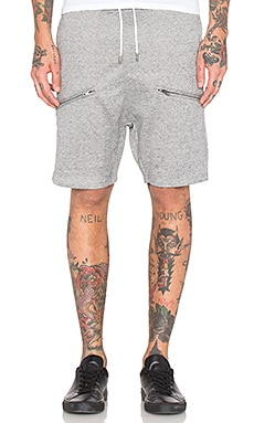 I Love Ugly Zespy Zip Short in Grey