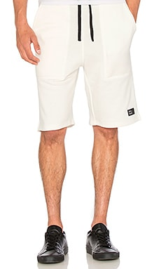 I Love Ugly Trackie Shorts in Off White