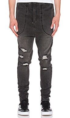 I Love Ugly Zespy Pant in Stressed Denim Black