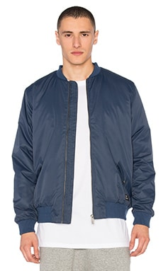 Satin Bomber Jacket in Royal Blue