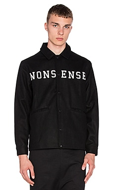 I Love Ugly Wool Coaches Jacket in Black