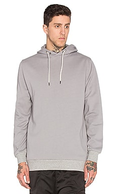 I Love Ugly Studio Print Hoody in Light Grey