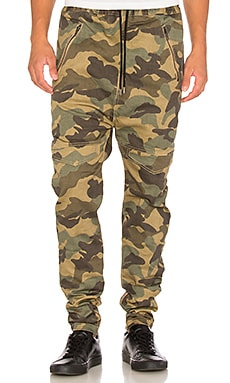 I Love Ugly Zespy Camo Pant in Green