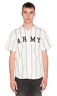 I Love Ugly Baseball Shirt in White Stripe