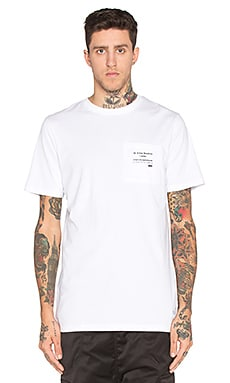 I Love Ugly Printed Pocket Tee in White
