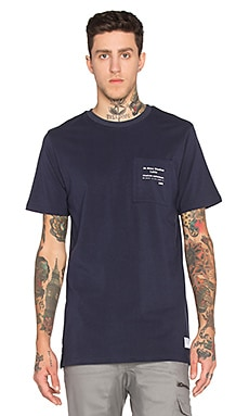 I Love Ugly Printed Pocket Tee in Navy