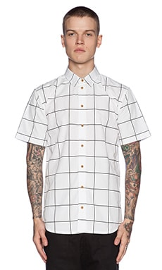 I Love Ugly Check Short Sleeve Shirt in White