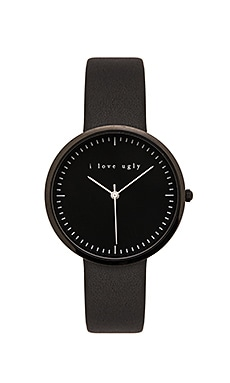 I Love Ugly Black on Black Watch in Black