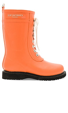 Mid Calf Rubber Boot in Flamingo