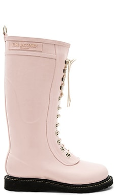 Long Rubber Boot in Peach Whip