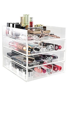 Diamond Collection Open Top Petite 4-Tier Acrylic Makeup Organizer Impressions Vanity $99 BEST SELLER