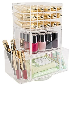 Acrylic Lipstick Spinner Tower with Drawers Impressions Vanity $99