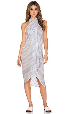 Indah Hailey Printed Scarf Sarong in Grey Snake